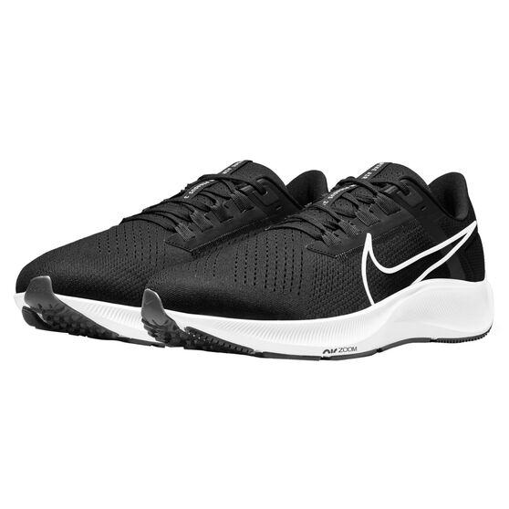 Nike Air Zoom Pegasus 38 4E Mens Running Shoes, Black/White, rebel_hi-res