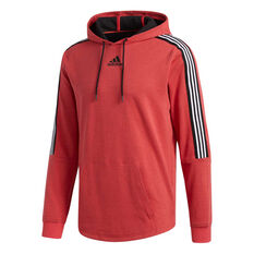 adidas Mens Post Game Hoodie Red S, Red, rebel_hi-res