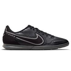 Nike Tiempo Legend Club 9 Indoor Soccer Shoes Black US Mens 7 / Womens 8.5, Black, rebel_hi-res