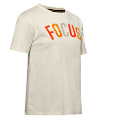 Under Armour Womens Project Rock Focus Tee White XS, White, rebel_hi-res