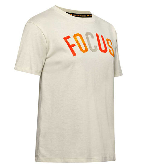 Under Armour Womens Project Rock Focus Tee, White, rebel_hi-res