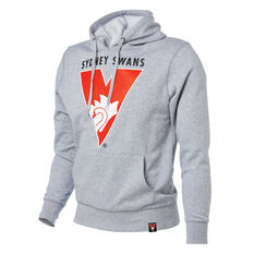 Syndey Swans 2018 Mens Hoodie Grey S, Grey, rebel_hi-res