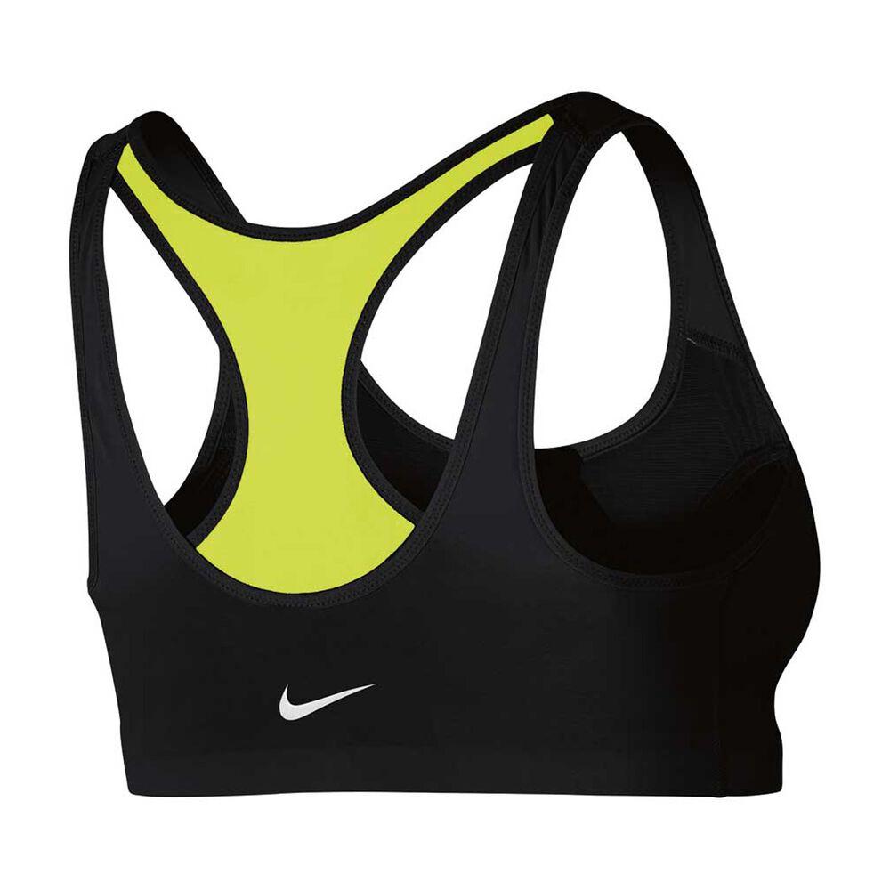 7c412ce0d2b1e Nike Womens Shape Zip Sports Bra Black   Volt XS Adult