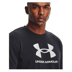 Under Armour Mens Big Logo Camo Tee Black XS, Black, rebel_hi-res