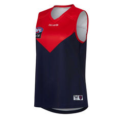 Melbourne Demons AFLW 2020 Womens Home Guernsey Navy/Red XS, Navy/Red, rebel_hi-res