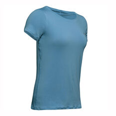 Under Armour Womens HeatGear Armour Tee, Blue, rebel_hi-res