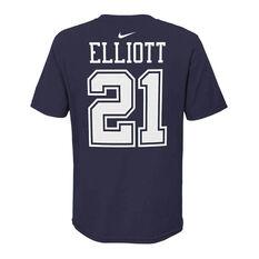 Dallas Cowboys Ezekiel Elliott 2020 Kids Essential Tee, Navy, rebel_hi-res