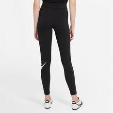 Nike Womens Sportswear Essential High-Rise Leggings Black XS, Black, rebel_hi-res