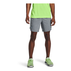 Under Armour Mens Launch 7 inch Running Shorts Grey S, Grey, rebel_hi-res