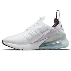 Nike Air Max 270 Kids Casual Shoes White/Purple US 4, White/Purple, rebel_hi-res