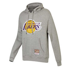 Los Angeles Lakers Mens Hoodie Grey S, Grey, rebel_hi-res
