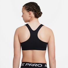 Nike Girls Swoosh Sports Bra, Black, rebel_hi-res
