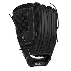 Wilson 360 Slowpitch Left Hand Softball Glove Black 13in Left Hand, Black, rebel_hi-res