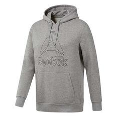 Reebok Mens Training Essentials Logo Hoodie Grey S, Grey, rebel_hi-res