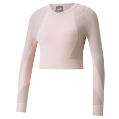 Puma Womens Seamless Fitted Top Pink XS, Pink, rebel_hi-res
