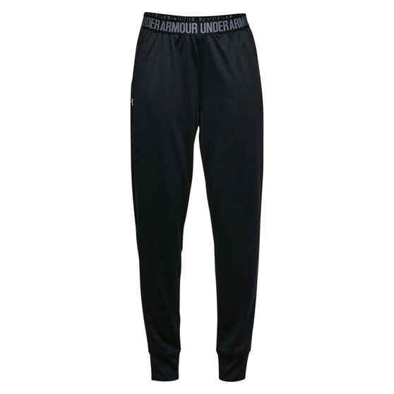 Under Armour Womens Play Up Pants Black / Silver XS, , rebel_hi-res