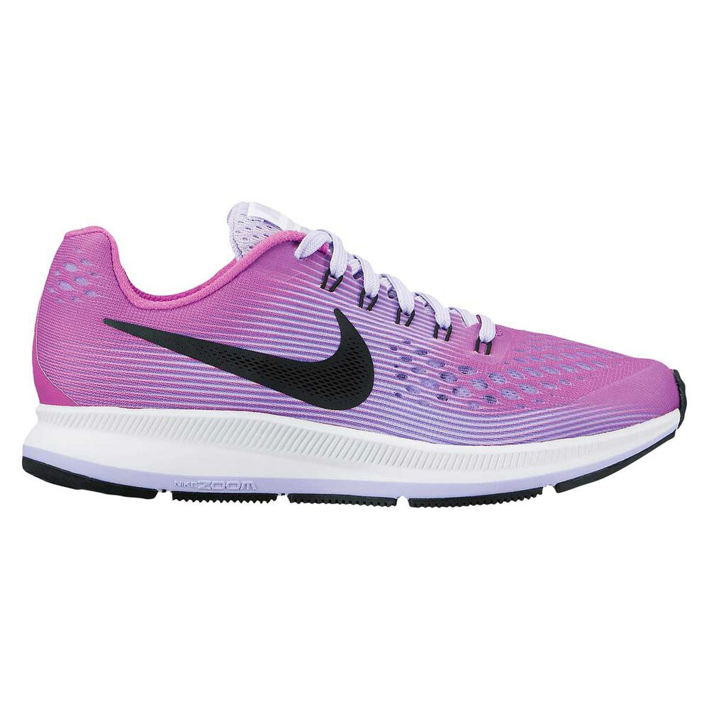 3e5648c7fc10 Nike Zoom Pegasus 34 Kids Running Shoes Purple   Black US 7