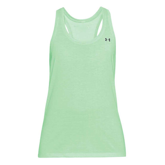 Under Armour Womens UA Microthread Train Twist Tank, Green, rebel_hi-res