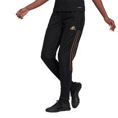adidas Womens Tiro Pride Football Track Pants Black XS, Black, rebel_hi-res