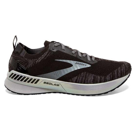 Brooks Bedlam 3 Mens Running Shoes, Black/White, rebel_hi-res