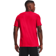 Under Armour Mens Hoops Icon Tee Red XS, Red, rebel_hi-res