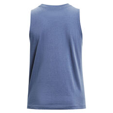 Under Armour Womens UA Repeat Muscle Tank Blue XS, Blue, rebel_hi-res