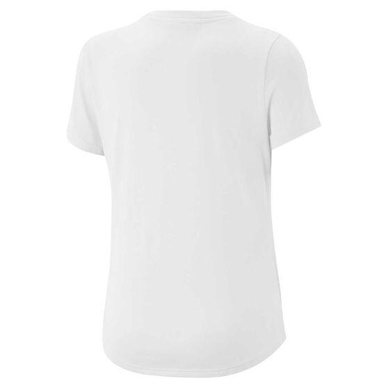 Nike Dri-FIT Girls Scoop Tee White / Lilac S, White / Lilac, rebel_hi-res