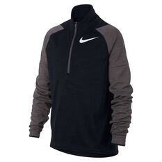 Nike Boys Dri-FIT Long-Sleeve Running Top Black / Grey XS, Black / Grey, rebel_hi-res