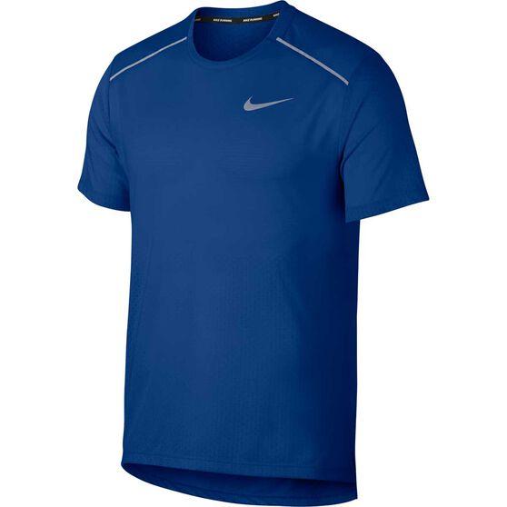 Nike Mens Breathe Rise 365 Running Tee, Dark Indigo, rebel_hi-res