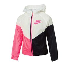 Nike Girls Windrunner Jacket Pink 4, Pink, rebel_hi-res