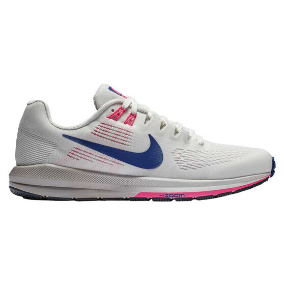Nike Air Zoom Structure 21 Womens Running Shoes, White / Blue, rebel_hi-res