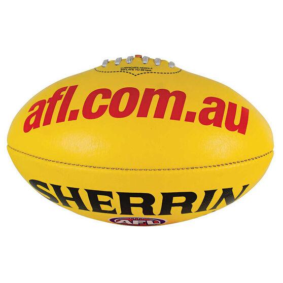 Sherrin AFL Replica Game Ball  Yellow 5, , rebel_hi-res