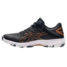 Asics GEL Netburner Professional 2 Womens Netball Shoes Black/Bronze US 6, Black/Bronze, rebel_hi-res