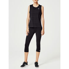 Running Bare Womens 3 / 4 Tights, Black, rebel_hi-res