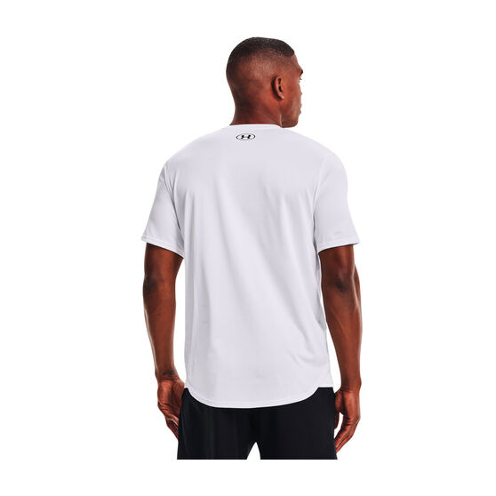 Under Armour Mens Training Vent Short Sleeve Tee, White, rebel_hi-res