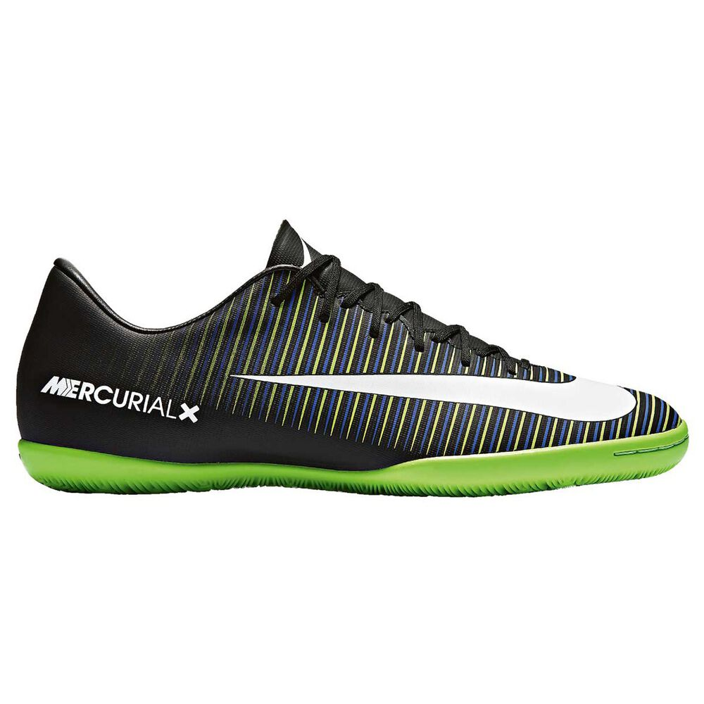 best sneakers 56cff 5e065 Nike MercurialX Victory VI Mens Indoor Soccer Shoes Black   White US 9.5  Adult, Black