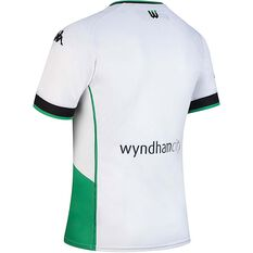 Western United FC 2020/21 Junior Away Jersey White / Green 8, White / Green, rebel_hi-res