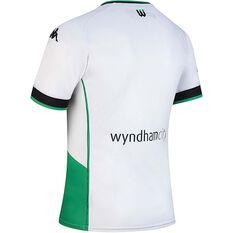 Western United FC 2020/21 Junior Away Jersey White / Green 8, White / Green, rebel_hi-res