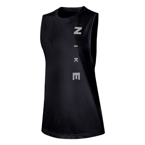 Nike Womens Dry Legacy Muscle Tank Black XS, Black, rebel_hi-res