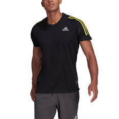 adidas Mens Own The Run Tee Black S, Black, rebel_hi-res