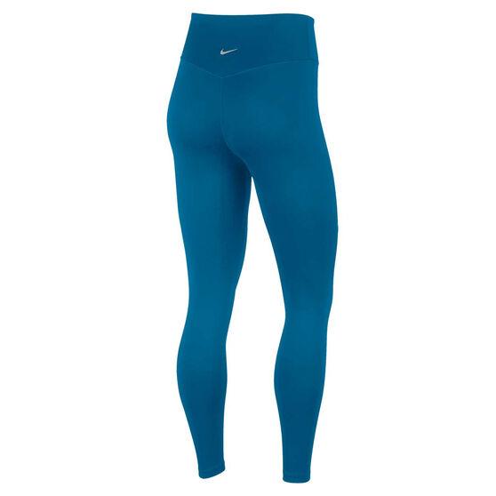 Nike Womens Swoosh Run 7/8 Tights, Green, rebel_hi-res