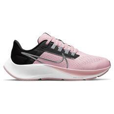 Nike Air Zoom Pegasus 38 Kids Running Shoes Pink/Black US 1, Pink/Black, rebel_hi-res