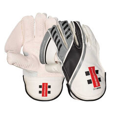 Gray Nicolls GN 600 Wicketkeeping Gloves White Junior, White, rebel_hi-res