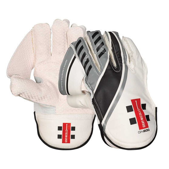 Gray Nicolls GN 600 Wicketkeeping Gloves, White, rebel_hi-res