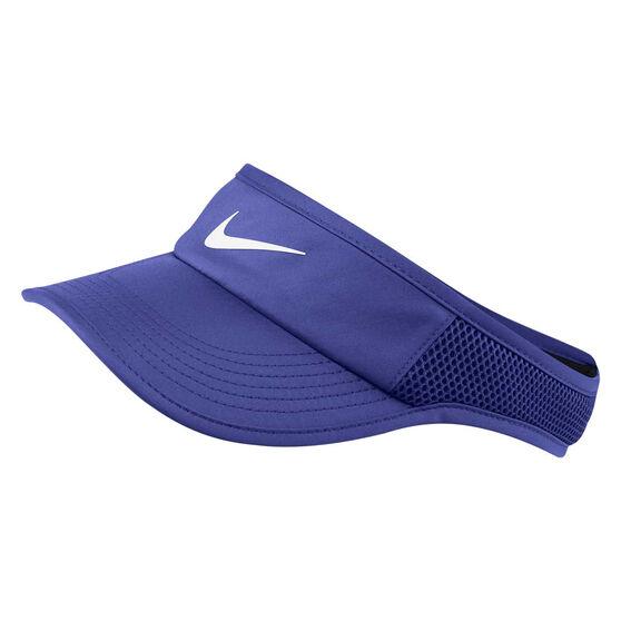 Nike Womens AeroBill Featherlight Visor Purple OSFA, , rebel_hi-res