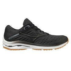 Mizuno Wave Rider 24 Mens Running Shoes Black/Gum US 8, Black/Gum, rebel_hi-res