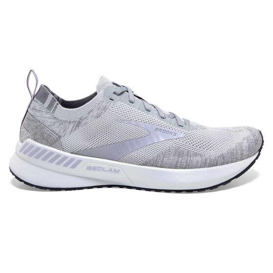 Brooks Bedlam 3 Womens Running Shoes, Grey/Purple, rebel_hi-res