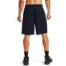 Under Armour Mens Baseline 10in Court Basketball Shorts Black XS, Black, rebel_hi-res