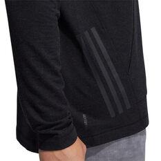 adidas Mens Urban Global Pullover Hoodie, Black, rebel_hi-res