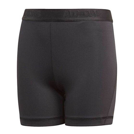 adidas Girls Alphaskin Short Tights, Black, rebel_hi-res